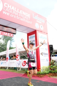 An amazing feeling crossing the finish line of my first 70.3 distance Triathlon